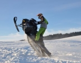 Snowmobil fahren Sayda